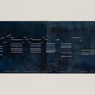 09 Bianry:Blue, 53 x 127 cm