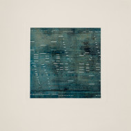 02 Notation:Turquoise, 56 x 53 cm