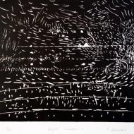 03 NIGHT SCRIBBLES 1, 53 x 56 cm