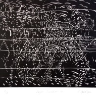 04 NIGHT SCRIBBLES 2, 53 x 56 cm