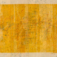 Memory of Small Things (yellow), 102 x 114 cm