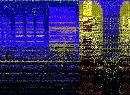 Le timbre de la recherche, 2013, 101.5 x 731.5 cm. Impression numérique haute définition avec pigments de qualité archive sur papier. Collaboration audio: Chris Crilly. Concept et proposition de l'oeuvre d'art pour le Centre hospitalier universitaire de Sherbrooke, Centre de recherche clinique Étienne-Le-Bel, Sherbrooke, Quebec.