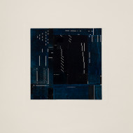 03 Notations:Blue & Black, 56 x 53 cm