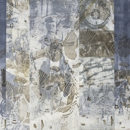 Sacred and Profane 2018 32 x 56 in Monoprint intaglio and collagraph