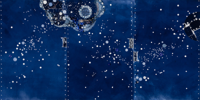 The Firmament 45 x 90 in
